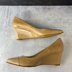 Cole Haan   Caramel Leather Wedge Nike Air Heels 9